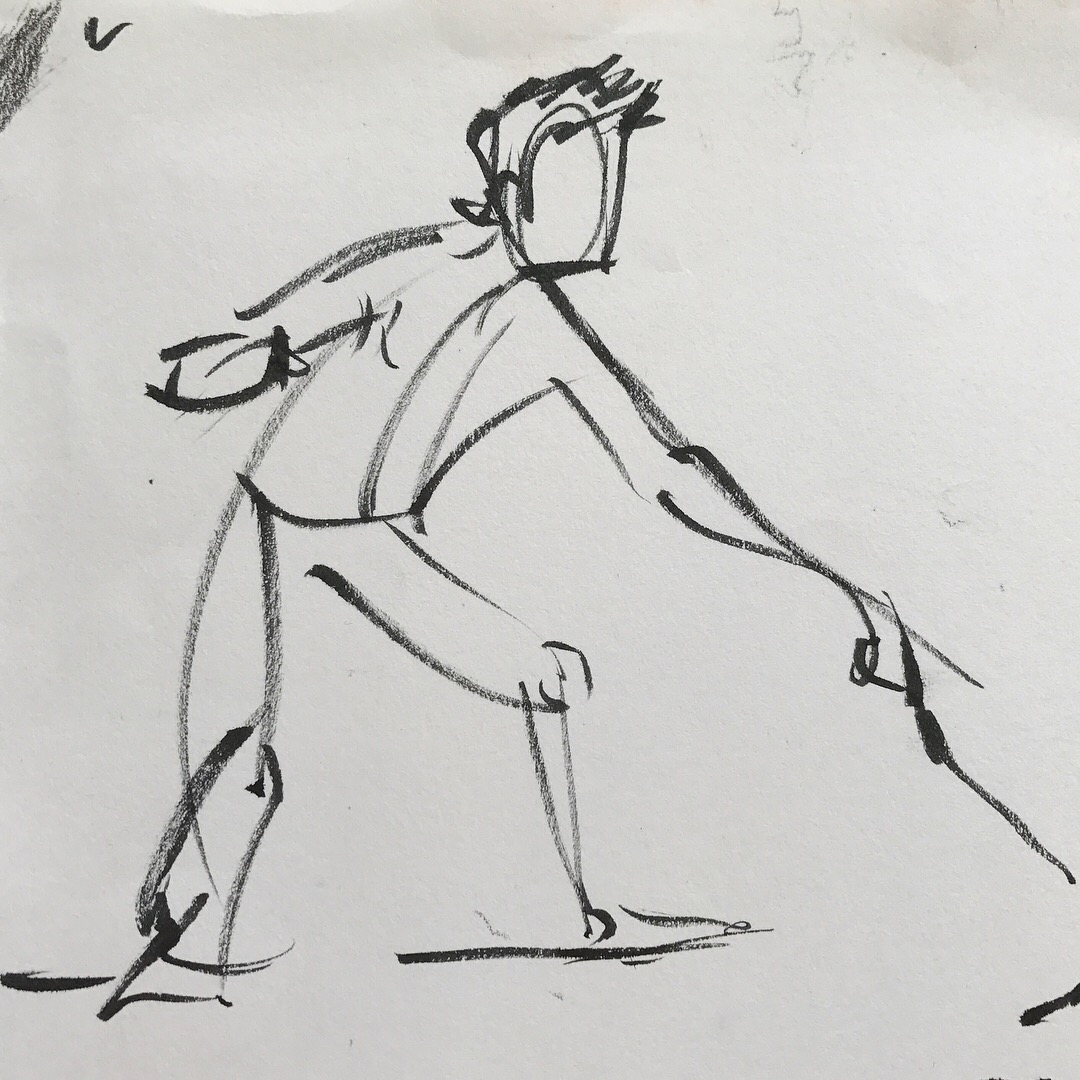 Life drawing 2 minute pose