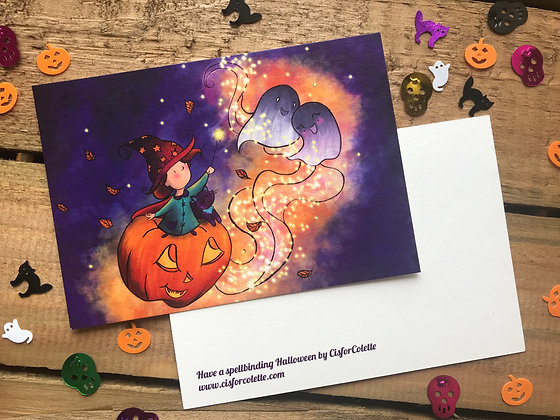 Have a spellbinding Halloween postcard