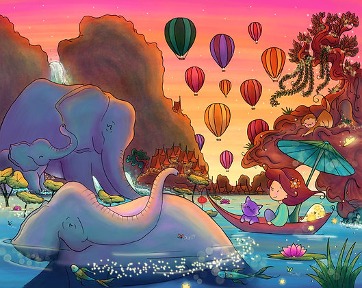 Journey to Elephant Bay Art Print