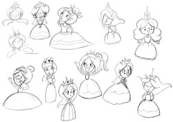 Princess Princess Character designs 1