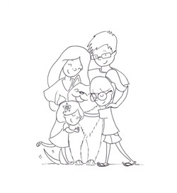 Family hugs inked