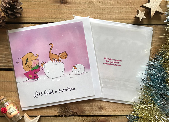 Let's build a snowman Greeting Card