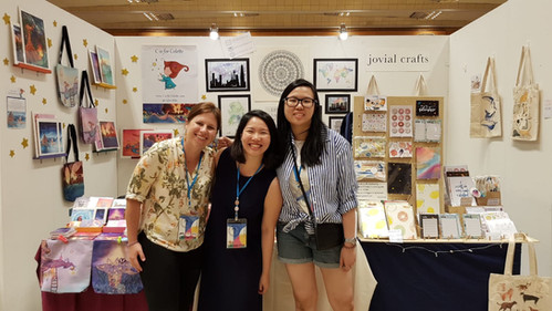 Me and my girls at the Seoul Illustration fair 2019