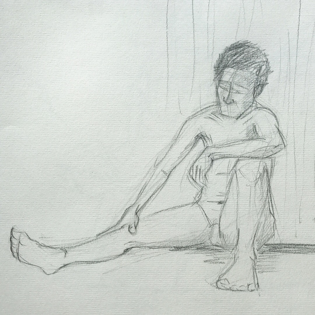 Life drawing 20 minute pose
