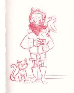 the old seaman and his loyal companions