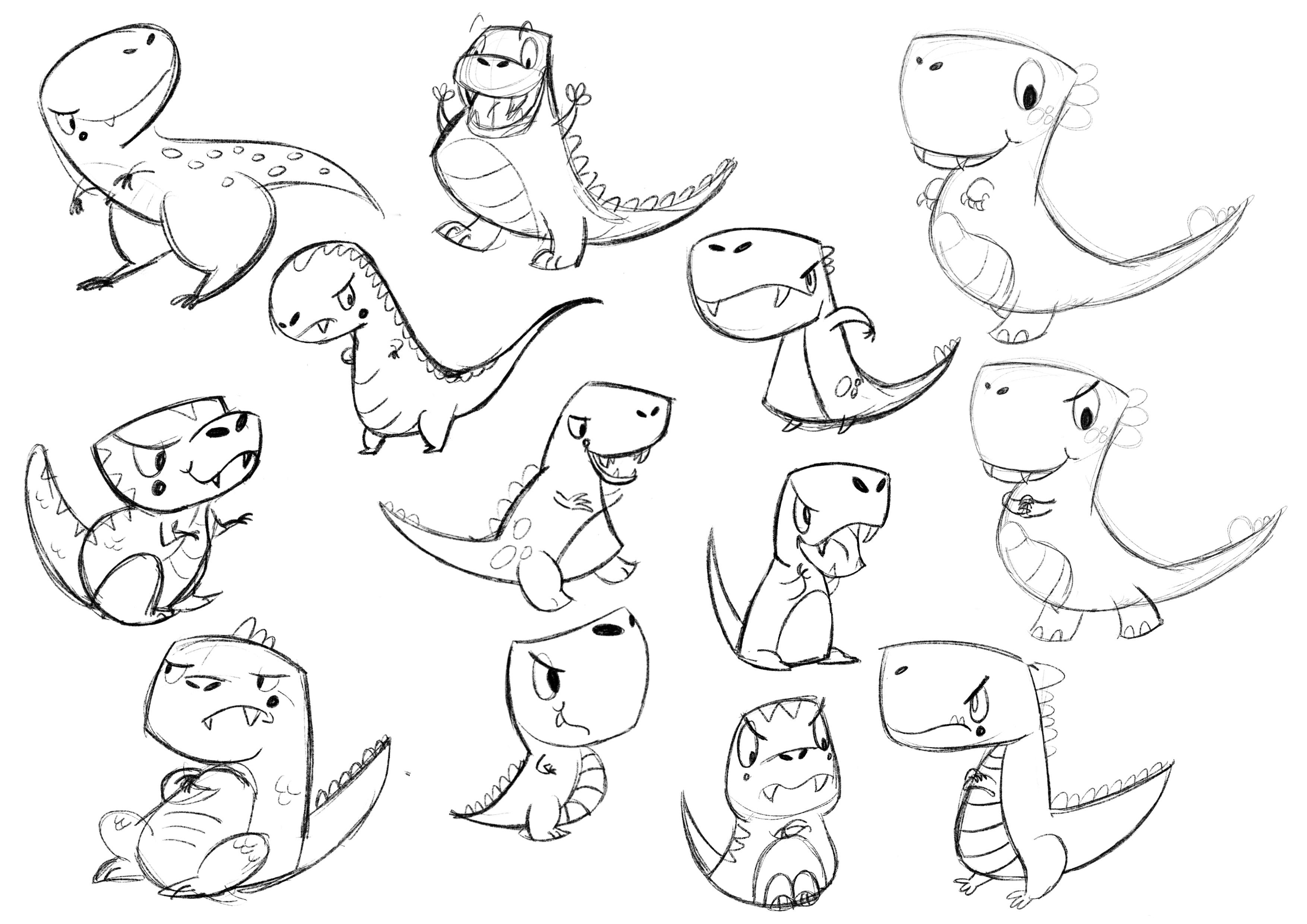 Grumpy character designs