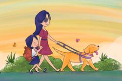 Walking with mum