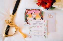 Xian and Liang wedding invitation