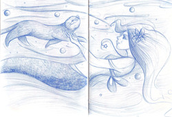 The mermaids touch