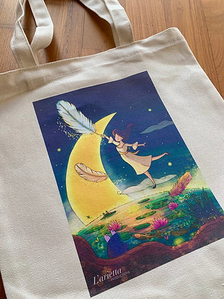 The Three Feathers tote bag