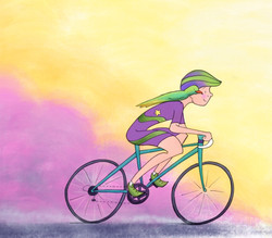Cycling with my best friend