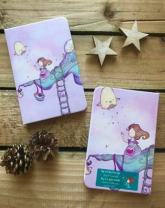 Up on the tree top purple A6 notebook