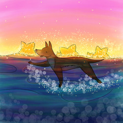 Doggie paddling