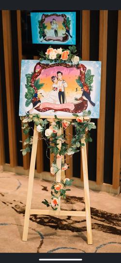 Wedding display board