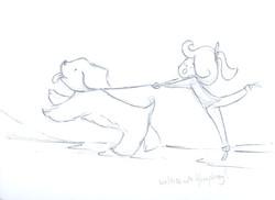 walkies with Humphrey