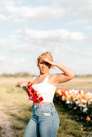Lizzy's Tulip Photoshoot with AHP Photos