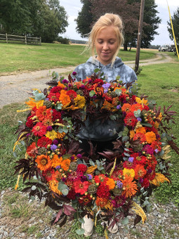 Large Colorful Wreath