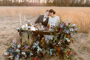 Styled Shoot Sweetheart Table