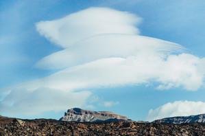 Лентикулярные облака на о.Тенерифе.