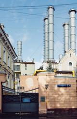 Первая в Москве газовая электростанция ГЭС1. Moscow's first gas-fired power plant.