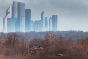 Вид на Москва-Сити. View of Moscow City.