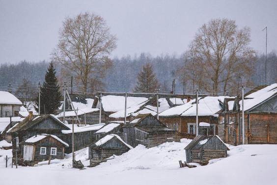Деревня Вершинино, Архангельская область.The village of Vershinino.