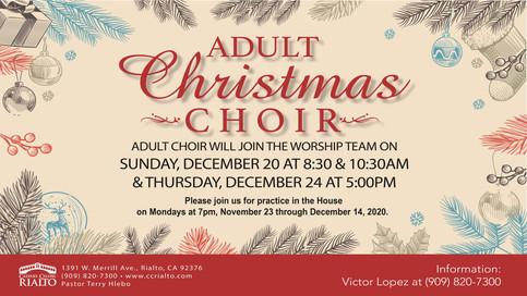 Adult Christmas Choir