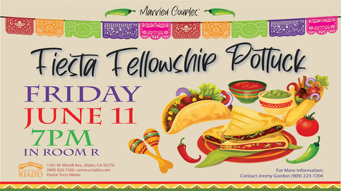 Married Couples Fiesta Fellowship Potluck