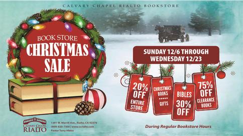 Bookstore Christmas Sale