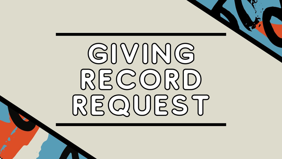 Giving Record Request