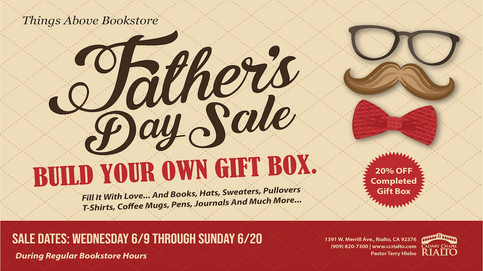 Things Above Bookstore: Father's Day Sale
