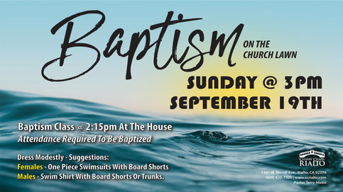 Baptism and Baptism