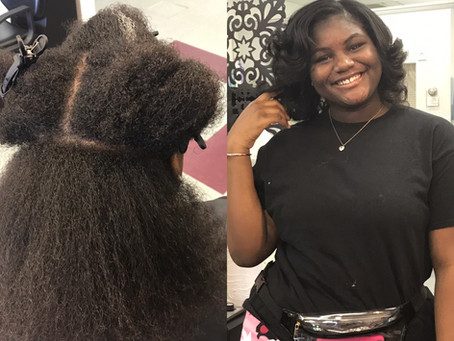 Taking care of your natural hair.