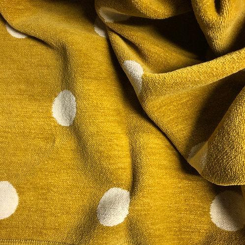 Decke von Klippan  Dots in senf-gelb