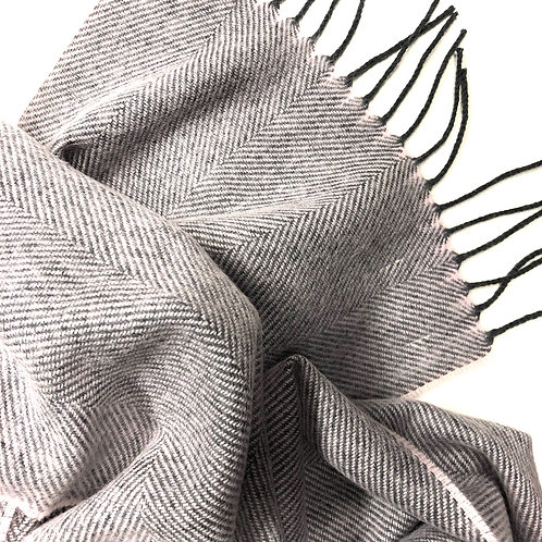 Schal aus Lambswolle  rose schadow