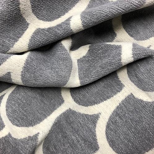 Decke Klippan Feather  in Grau-weiß