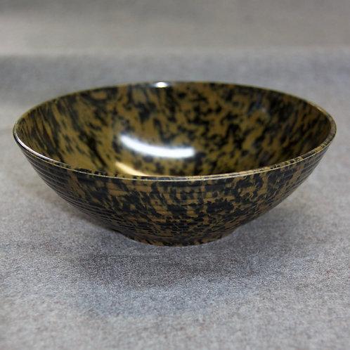 Schale aus Bakelit, olivgrün/schwarz