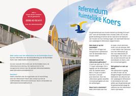 Referendum Ruimtelijke Koers - voor- en achterkant folder