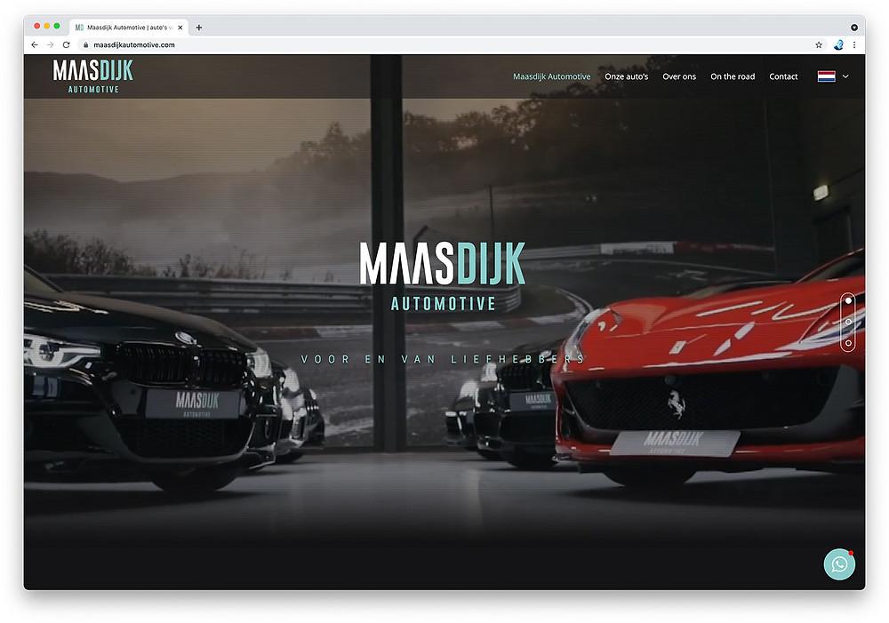 Homepage website Maasdijk Automotive