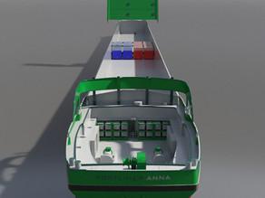 Portliner Anna koerst snel richting voltooiing
