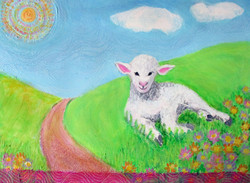 Lamb in the Meadow