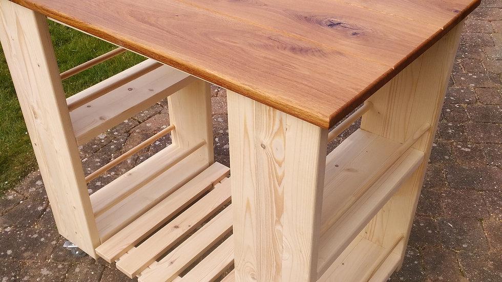 Kitchen island unit - Oak plank