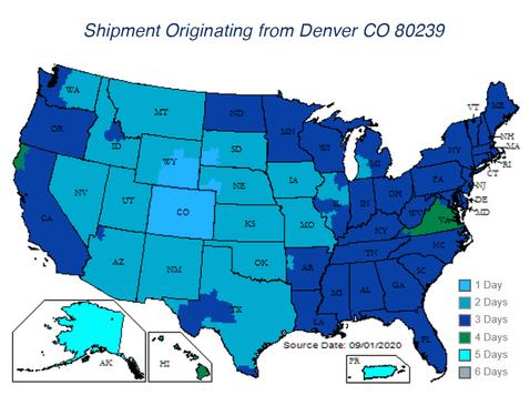 Shipment from Denver