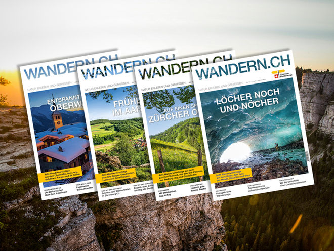 Magazin Cover WANDERN.CH Schweizer Wanderwege