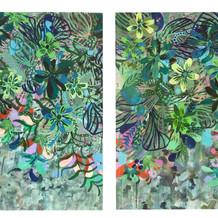 Sinfonía, acrílico sobre lienzo, 80 x 100 cm, 2020