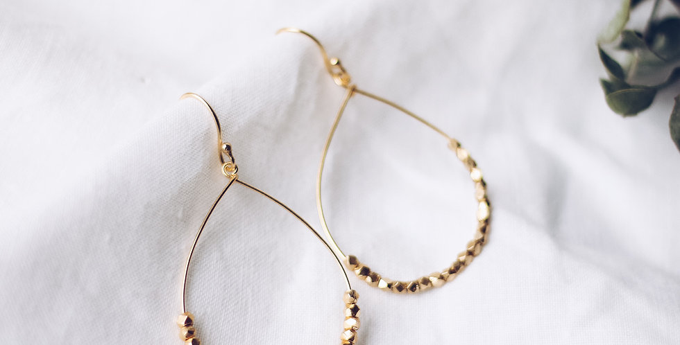 Spirited Celebration Hoop Earrings