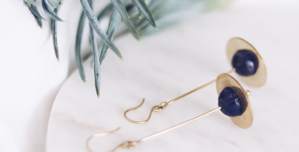 Energising Orbit Blue Lapis Earrings