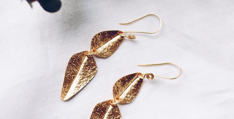 Spirited Hammered Leaf Earrings
