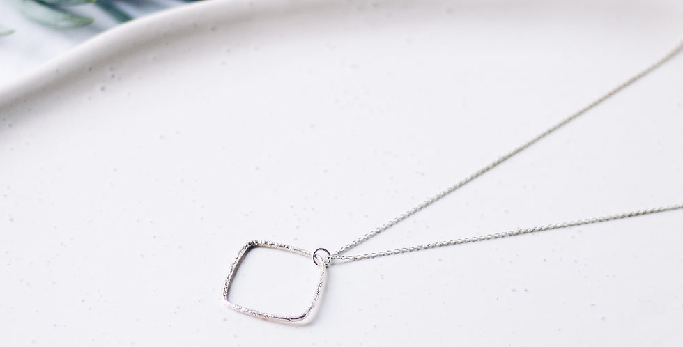 Shani Hammered Silver Necklace