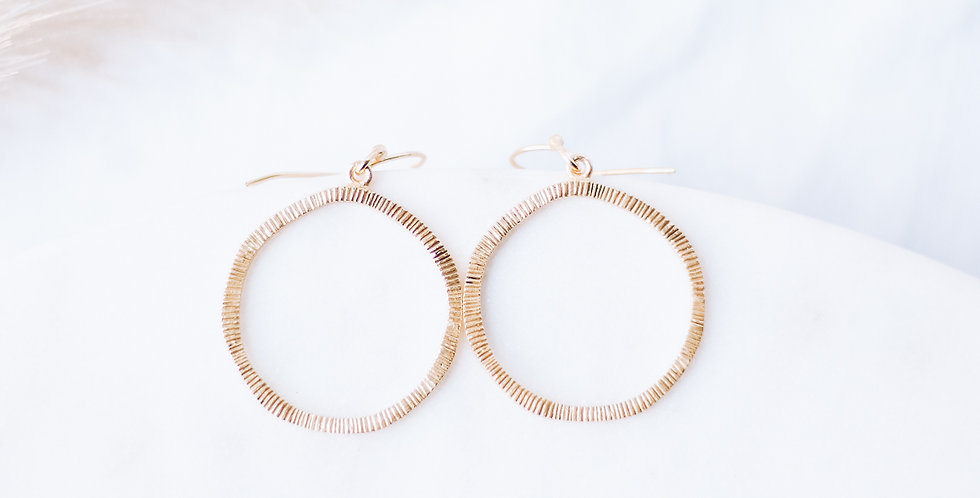 Spirited Sunny Hoop Earrings